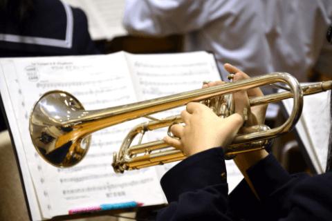 金管楽器(トランペット、トロンボーン、ホルン、ユーフォニアム、チューバなど)